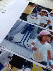 運動会の写真をまとめたアルバム「フォトバインダー」