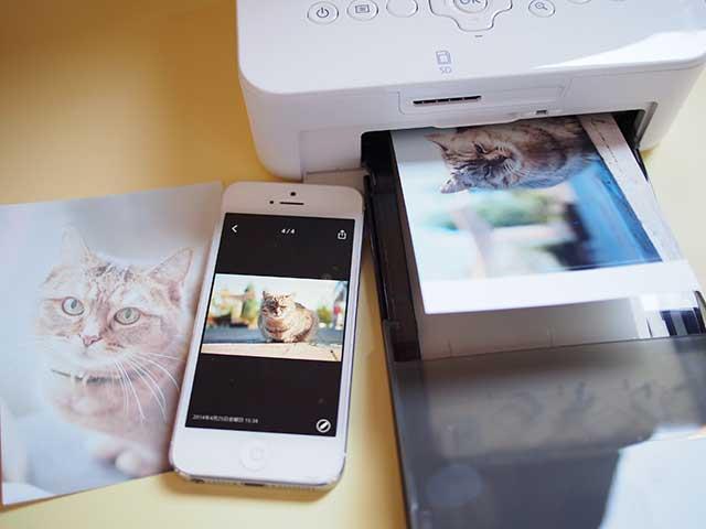 AirPrintを使ってiPhoneの写真を「SELPHY(セルフィー)」で印刷
