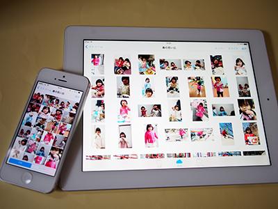 iPhoneiPadの共有フォトストリーム利用イメージ