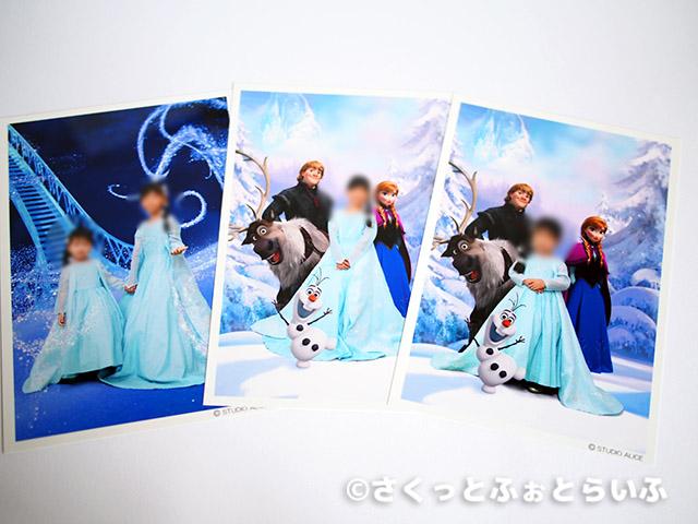 「アナと雪の女王」のエルサなりきり撮影ハーフキャビネサイズプリント写真