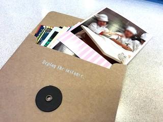 「Instapri(インスタプリ) pinky set.」を専用封筒にいれてプレゼントするのも◎
