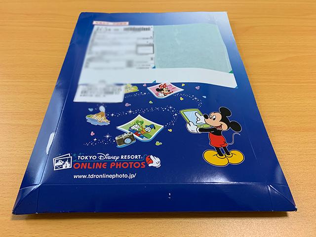 「東京ディズニーリゾート・オンラインフォト」で注文したハードカバーフォトブックの梱包