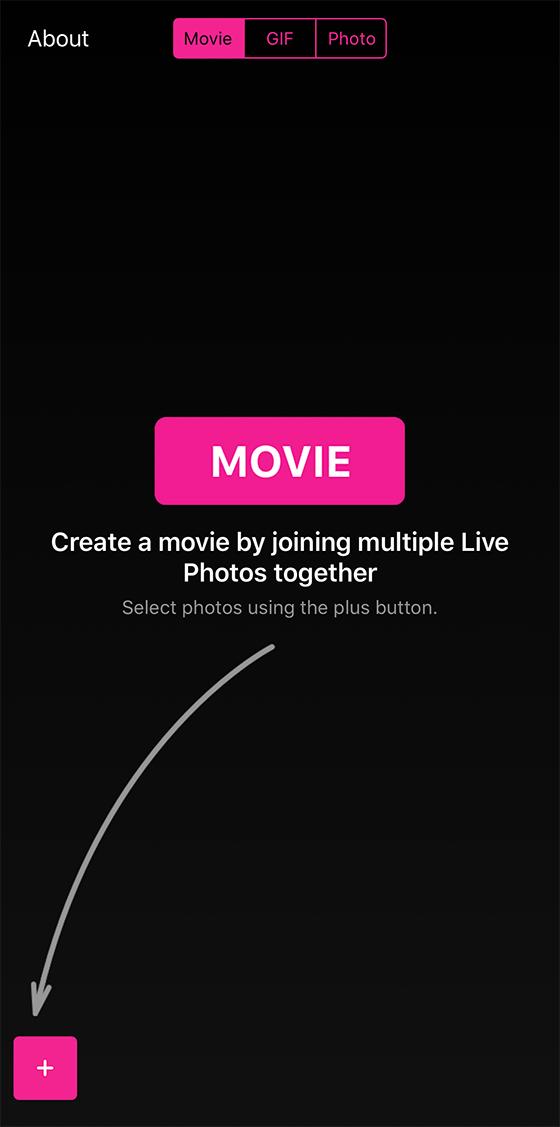 「Live Canvas」でライブフォト動画をつなげる