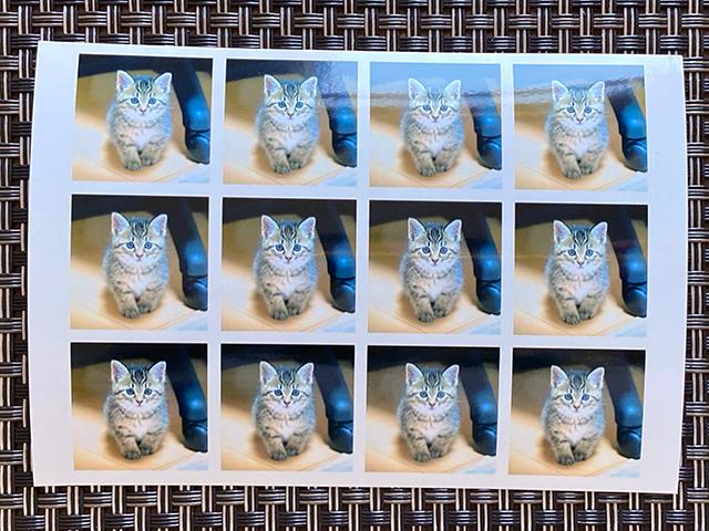 セブンイレブンのマルチコピー機で同じ画像のましかく12分割